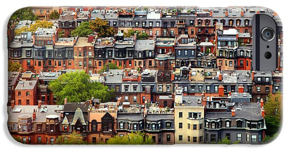 City. Boston iPhone Cases - Back Bay iPhone Case by Rick Berk