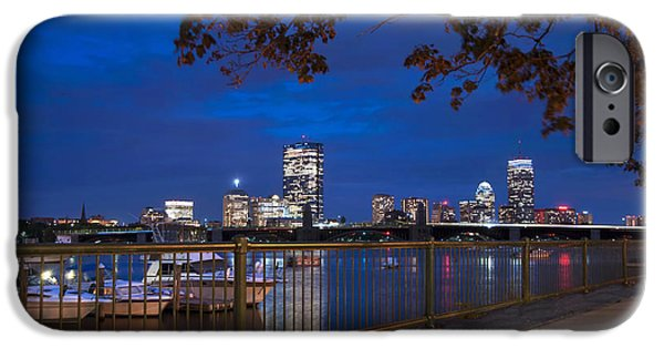 Charles River iPhone Cases - Back Bay Skyline - Boston iPhone Case by Joann Vitali