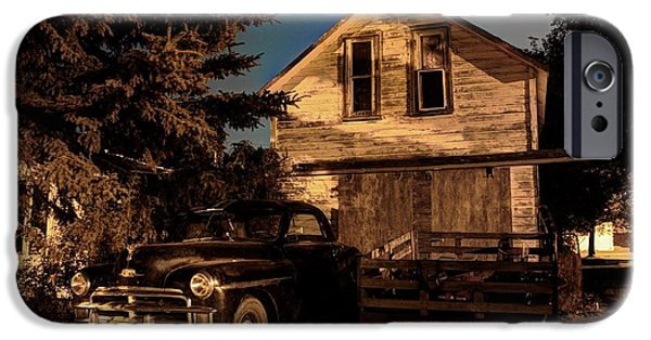 Haunted House iPhone Cases - Back Home iPhone Case by David Matthews