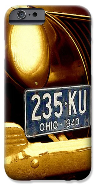 Old Cars iPhone Cases - Back In The Day iPhone Case by Kenneth Krolikowski