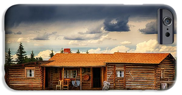 Cabin Window iPhone Cases - Back to the Basics iPhone Case by Priscilla Burgers