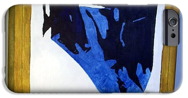 Shape Reliefs iPhone Cases - Background Painting 4 iPhone Case by William Douglas