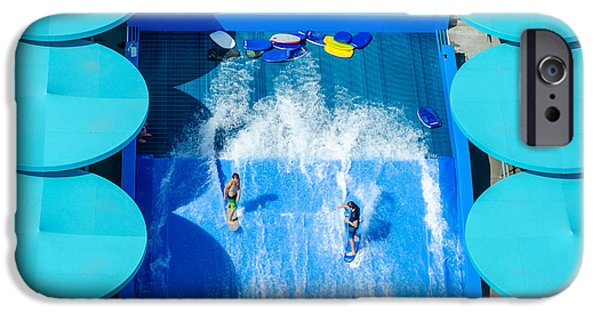 Board iPhone Cases - Backyard Wake-boarding iPhone Case by Erich Grant