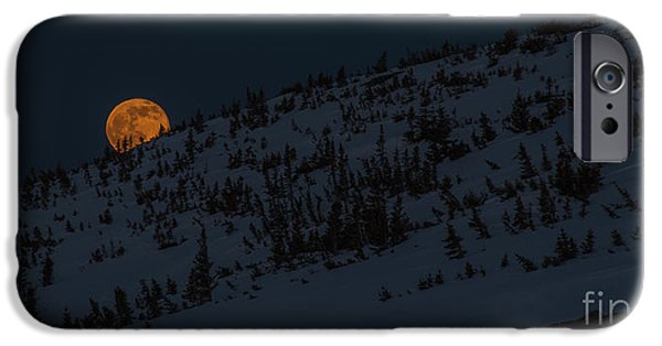 Snowy Night iPhone Cases - Bad Moon Rising iPhone Case by Benjamin Reed
