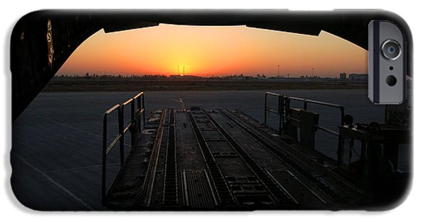 Baghdad iPhone Cases - Baghdad Sunrise iPhone Case by Richard Gibb