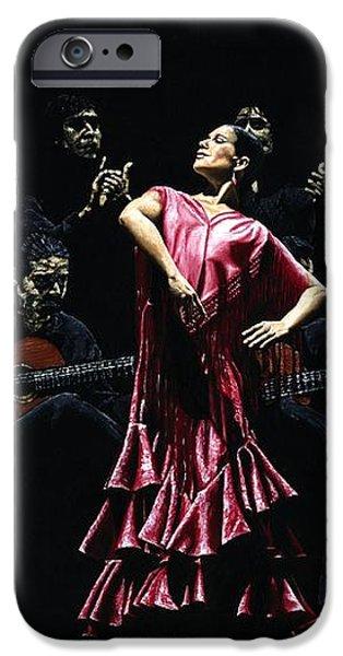Bailarina Orgullosa del Flamenco iPhone Case by Richard Young