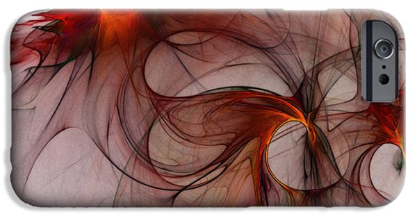 Fractal iPhone Cases - Balance Of Power Abstract Art iPhone Case by Karin Kuhlmann