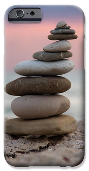 Pebbles iPhone Cases - Balance iPhone Case by Stylianos Kleanthous