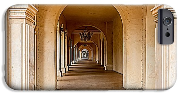 Bill Gallagher iPhone Cases - Balboa Park Walkway iPhone Case by Bill Gallagher