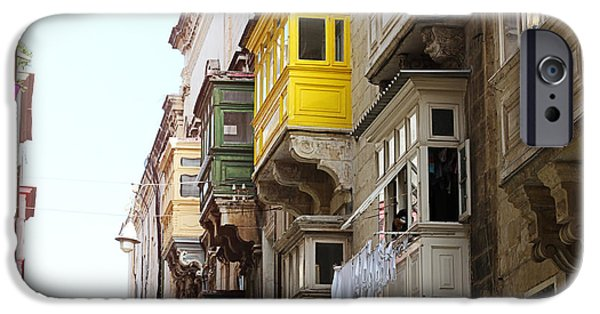 Maltese iPhone Cases - Balconies of Valletta 1 iPhone Case by Jasna Buncic