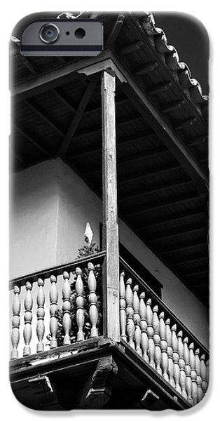 Balcony iPhone Cases - Balcony Angle in Cartagena iPhone Case by John Rizzuto