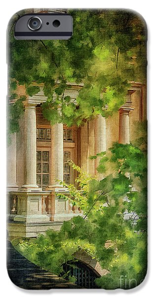 Balcony iPhone Cases - Balcony At Winterthur iPhone Case by Lois Bryan