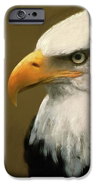 Patriots iPhone Cases - Bald Eagle iPhone Case by Donna Johnson