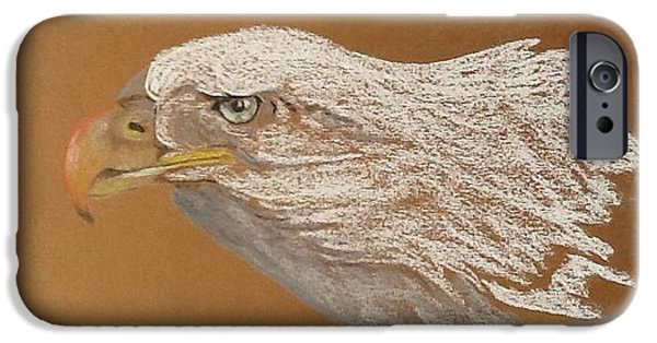 Eagle Pastels iPhone Cases - Bald Eagle iPhone Case by Janice Curry