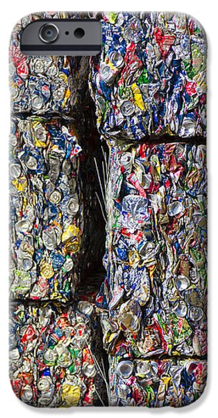 Bales of Aluminum Cans iPhone Case by David Buffington