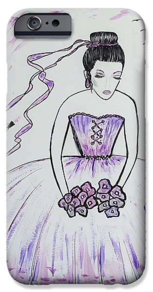 Fabulous Gifts iPhone Cases - Ballerina Bride  iPhone Case by Jasna Gopic