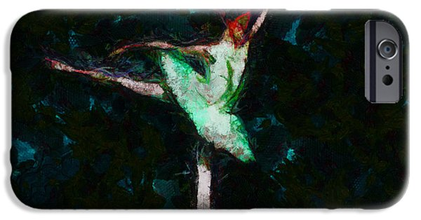 Ballerina Artwork iPhone Cases - Ballerina Girl - You Are So Lovely Two  - Painting iPhone Case by Ricard  Akagawa Galleries