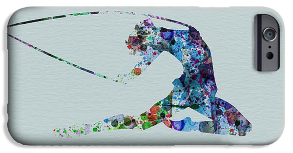 Relationship Paintings iPhone Cases - Ballerina on the stage iPhone Case by Naxart Studio