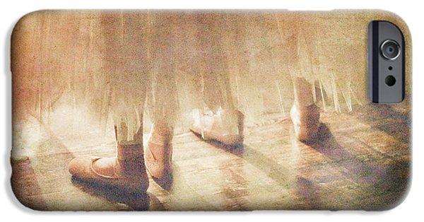 Ballet Dancers iPhone Cases - Ballerinas Waiting iPhone Case by Craig J Satterlee