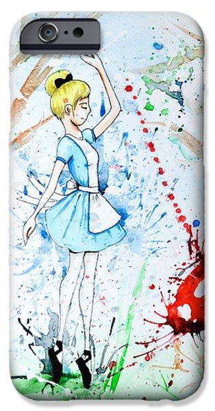 Alice In Wonderland iPhone Cases - Ballet Alice iPhone Case by Feliza Estrada