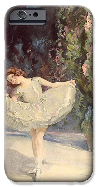 Ballet Dancers iPhone Cases - Ballet iPhone Case by Septimus Edwin Scott