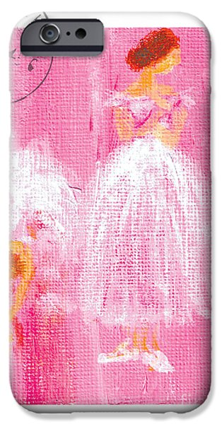 Ballet Sisters 2007 iPhone Case by Marie Loh