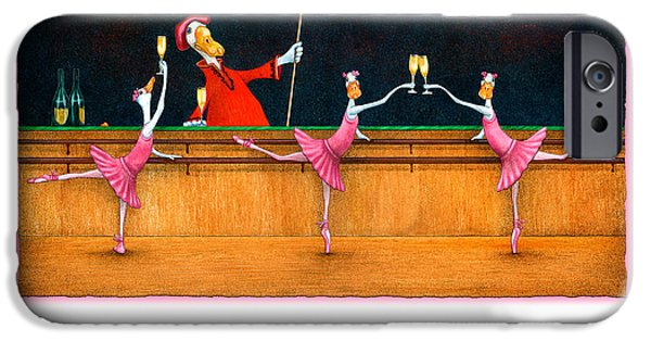 Bullis iPhone Cases - Ballet Up To The Barre... iPhone Case by Will Bullas