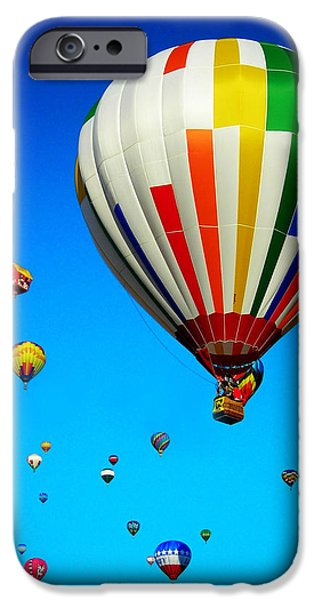 Helium iPhone Cases - Balloon Festival iPhone Case by Juergen Weiss