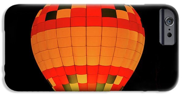 Hot Air Balloon Pyrography iPhone Cases - Balloon Glow 1 iPhone Case by Lone  Dakota Photography