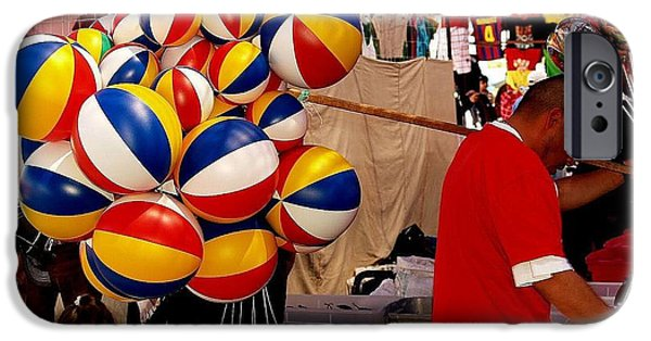 Balloon Vendor iPhone Cases - Balloon Man iPhone Case by Bc May