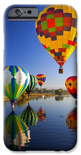 Rally iPhone Cases - Balloon Reflections iPhone Case by Mike  Dawson