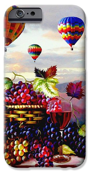 Temecula iPhone Cases - Balloon Ride at Dawn iPhone Case by Ronald Chambers