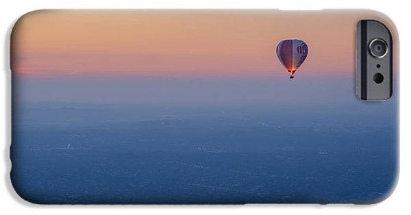 Basket iPhone Cases - Ballooning in the Haze iPhone Case by Ray Warren