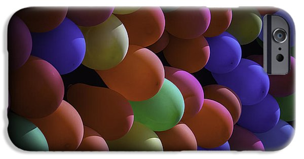 Red Balloons iPhone Cases - Balloons At The Fair iPhone Case by Garry Gay