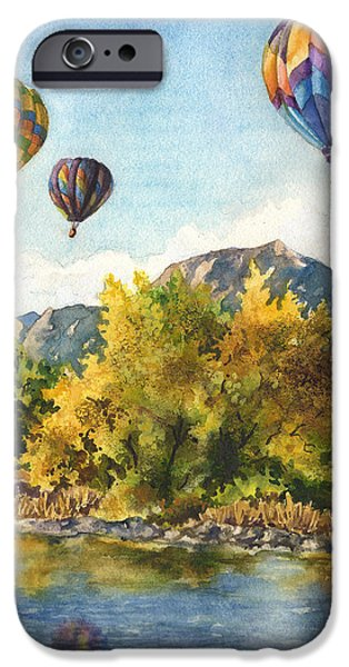 Hot Air Balloon iPhone Cases - Balloons at Twin Lakes iPhone Case by Anne Gifford