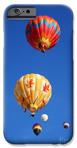4th July Photographs iPhone Cases - Balloons Galore iPhone Case by John Langdon