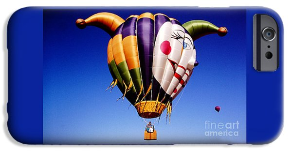 Flight iPhone Cases - Balloons-Jester-2766 iPhone Case by Gary Gingrich Galleries