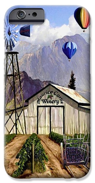 Temecula iPhone Cases - Balloons Over the Winery II iPhone Case by Ronald Chambers