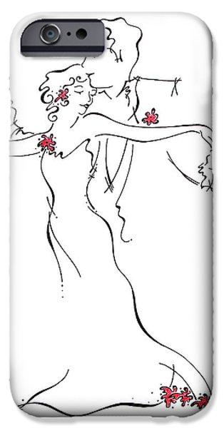 Wedding Bells iPhone Cases - Ballroom iPhone Case by Katrina Nixon