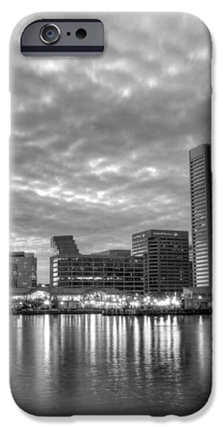Baltimore in Black and White iPhone Case by JC Findley