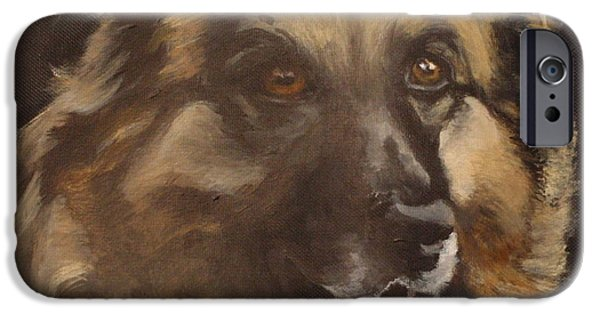 Dog Close-up iPhone Cases - Balto iPhone Case by Carol Russell