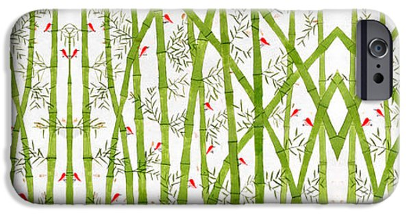 Bamboo Leaves iPhone Cases - Bamboo Forest iPhone Case by Sumit Mehndiratta