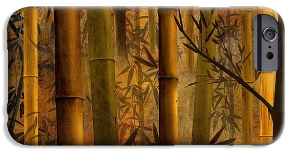 Bedros Mixed Media iPhone Cases - Bamboo Heaven iPhone Case by Bedros Awak