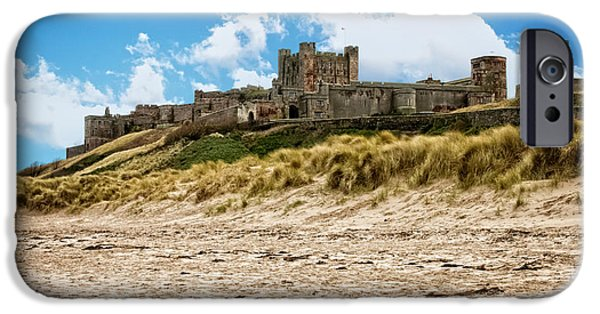 Sand Castles iPhone Cases - Bamburgh Beach iPhone Case by Wilson Photographics