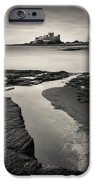 North Sea Photographs iPhone Cases - Bamburgh Castle iPhone Case by Dave Bowman