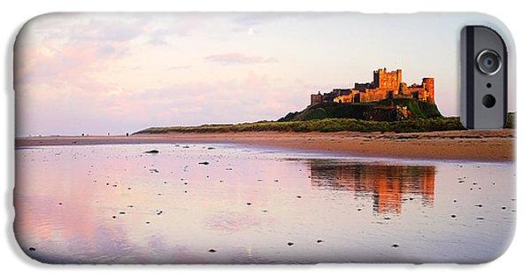 Sand Castles iPhone Cases - Bamburgh Castle. iPhone Case by Paul Cullen