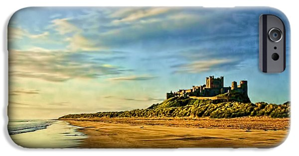 Sand Castles iPhone Cases - Bamburgh Morning iPhone Case by Brian Tarr