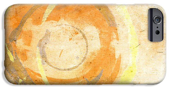 Abstract Expressionism iPhone Cases - Banana Cake iPhone Case by Julie Niemela