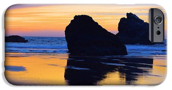 Ocean Sunset iPhone Cases - Bandon Beach Kittens Sunset iPhone Case by Michele  Avanti