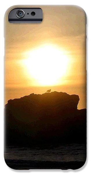 Bandon Beach Silhouette iPhone Case by Will Borden
